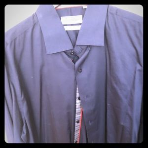 Dark Blue Levinas Button Down Shirt